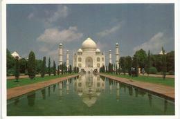 Marble Domes Of The TAJ MAHAL (INDIA), Postcard Addressed To ANDORRA, With Arrival Postmark - Denkmäler
