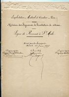Chemins De Fer De L'Ouest Ligne De Rennes à Saint Malo Profil En Long 1897 - Europe