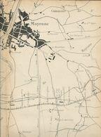 Chemins De Fer De L'Ouest Ligne De Mayenne  à Fougères Plan Général - Europe