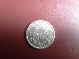 Portugal   Colonia Moçambique  10   Escudos 1954       Silver, Prata - Portugal
