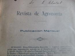 Plaquette Lima Perou Revista De Agronomia 1904  Agriculture Paypal Ok Out Of Europe - Livres, BD, Revues