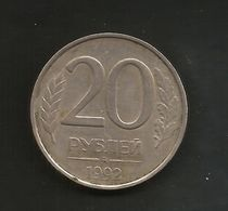 RUSSIA - 20  ROUBLES (1992) - Russia
