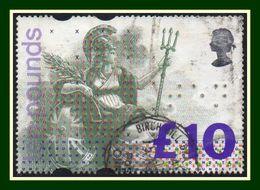 GB £10 Britannia N° 1664 Obl (cote 17,50 €) TP En Braille - Usati