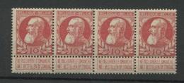 74 ** 10c En Bande De 4 **   Sans Charnrière  Cote 20,-E - 1905 Thick Beard