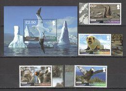 J809 2011 SOUTH GEORGIA BBC FROZEN PLANET FAUNA BIRDS !!! MICHEL 23,5 EURO !!! 1BL+1SET MNH - Stamps