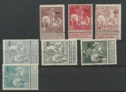 1911  Entre 92/99 Sans Colle   67,-E Sans Défaut - Belgien