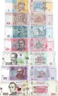 Ukraine Set 7 Pcs 1+2+5+10+20+50+100 Hryvnia - Pick 116-126 UNC - Random Years - Ukraine