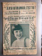 Partition Musicale Je N'ai Qu'un Amour C'est Toi Du Film Prix De Beaute Louise Brooks - Partitions Musicales Anciennes