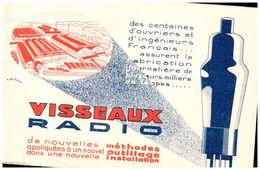 """R V/Buvard Lampe De Radio """"Visseaux""""(N= 1) - Blotters"""