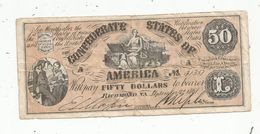 FAUX BILLET De Belle Facture , Confederate States Of America ,50 $ , 1861 , Richmond , VA - Etats-Unis