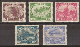 Austria 0138/142 * Charnela. 1915 - 1850-1918 Empire