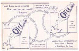"""E L O/Buvard Electricité Lampe """"Oflé""""  (N= 1) - Electricité & Gaz"""