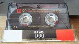 Audiocassetta TDK D 90 Usata Una Sola Volta - Cassette