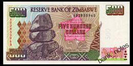 ZIMBABWE 500 DOLLARS 2001 Pick 11a Unc - Zimbabwe