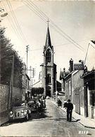 - Ref-W921- Yvelines - Les Mureaux - L Eglise - Boucherie Morchoine - Magasins - Voitures Dont 2CV Et 4 CV - Automobile - Les Mureaux