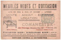 "M M/Buvard Meubles ""Comanester ""  (N= 1) - Blotters"