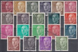 ESPAÑA 1955/1966 Nº 1143/63 SERIE COMPLETA USADA - 1931-Hoy: 2ª República - ... Juan Carlos I