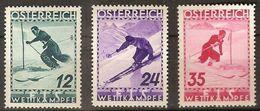 Austria 0477/479 * Charnela. 1936. Incompleto - Ungebraucht