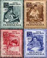 Ref. 60682 * NEW *  - INDONESIA . 1956. FOR THE BLIND. PRO CIEGOS - Indonesia