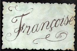 Thème Prénom  FRANCOISE Paillettes - Firstnames