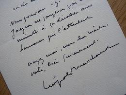Léopold MARCHAND (1891-1952) Dramaturge Théâtre & Opérette. Ami COLETTE. AUTOGRAPHE - Autographs
