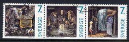 SWEDEN 1997 Europa: Sagas And Legends Strip Of Three Stamps Used.  Michel 2001-03 Du - Sweden