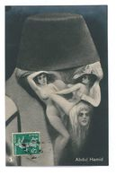 CPA ARCIMBOLDESQUE VISAGE FAIT DE FEMMES NUES ABDUL-HAMID MAROC Caricature Politique Satirique Illustrateur - 1900-1949