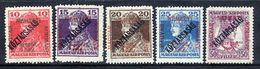 HUNGARY (SZEGED) 1919 Karl And Zita Overprinted Köztarsasag LHM /*.  Michel 36-40 - Szeged