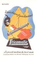 """T M T/Buvard Machine A Tricotter  """"Tricomatique""""  (N= 1) - Buvards, Protège-cahiers Illustrés"""