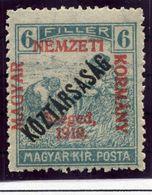 HUNGARY (SZEGED) 1919 Harvesters 6 F. Overprinted Köztarsasag MNH / **.  Michel 30 - Szeged