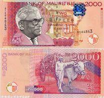 MAURITIUS       2000 Rupees       P-55       1999       UNC - Mauritius