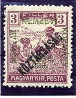 HUNGARY (SZEGED) 1919 Harvesters 3 F. Overprinted Köztarsasag LHM / *.  Michel 27 - Szeged