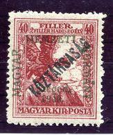 HUNGARY (SZEGED) 1919 War Charity 40+2 F. Overprinted Köztarsasag MNH / **.  Michel 26 - Szeged