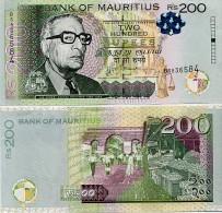MAURITIUS       200 Rupees       P-61b       2013       UNC - Mauritius