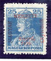 HUNGARY (SZEGED) 1919 Karl 25 F.  MNH / **.  Michel 24 - Szeged