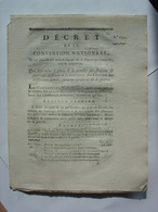 DECRET CONVENTION NATIONALE 1793 - RATIONS FOURRAGE DES CHEVAUX PENDANT LA GUERRE - CLERMONT FERRAND IMPRIMERIE DELCROS - Decreti & Leggi