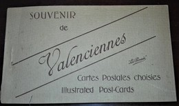 VALENCIENNES CARTE POSTALES CHOISIES 20 CARTOLINE IN LIBRETTO 1915-18 NUOVE - Valenciennes