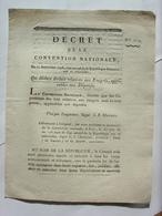 DECRET CONVENTION NATIONALE 1793 - LOIS DES EMIGRES APPLICABLES AUX DEPORTES - CLERMONT FERRAND IMPRIMERIE LIMET - Decreti & Leggi