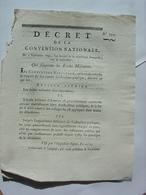 DECRET CONVENTION NATIONALE 1793 - SUPPRESSION DES ECOLES MILITAIRES - AUXERRE CLERMONT FERRAND IMPRIMERIE VEUVE DELCROS - Decreti & Leggi