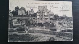CP Carte Postale St Saint Enogat Rue De La Plage Et Villa Roz Avel (2) - France