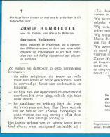 Bp    Zuster   Verbinnen   Wezemaal   Betekom - Images Religieuses