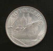SINGAPORE - 10 DOLLARS (1975 - 10th ANNIVERSARY REPUBLIC Of SINGAPORE 1965 - 1975) Silver / Ag - Singapore
