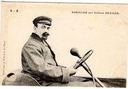 Jules Barillier Sur Voiture Brasier  -  Concurrent Grand Prix De L'ACF 1906  -  CPA - Grand Prix / F1