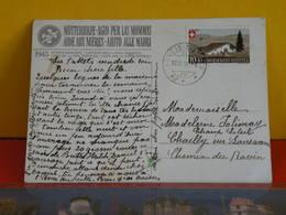 CP > Suisse > Aide Aux Mères,Carte De La Fête Nationale 1945 N°420 Y&T > Circulé 10.11.1945 - Cartas