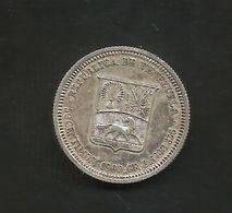 VENEZUELA - 50 Centimos (1960) Silver / Ag - Venezuela