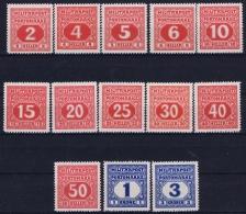 Osterreichisch- Bosnien Und Herzegowina: Porto Mi 14- 26 Postfrisch/neuf Sans Charniere /MNH/** - 1850-1918 Imperium