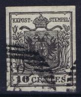 Lombardo-Veneto / Lombardie & Venetien Mi 2 Y  Breitrandig  1850 - Lombardo-Venetien