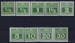 Austria Post Auf Kreta Mi Nr 6 - 14 Porto MH/* Flz/ Charniere - Levante-Marken
