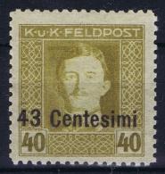 Austria Feldpost Italien  Mi 12 B  Postfrisch/neuf Sans Charniere /MNH/** Perfo 11,50 - 1850-1918 Empire