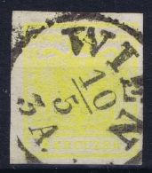 Osterreich:  Mi. 1 X Thick Paper  Obl./Gestempelt/used - 1850-1918 Imperium